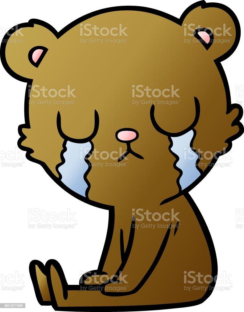 Vetores De Desenhos Animados Urso Chorar E Mais Imagens De Animal Istock