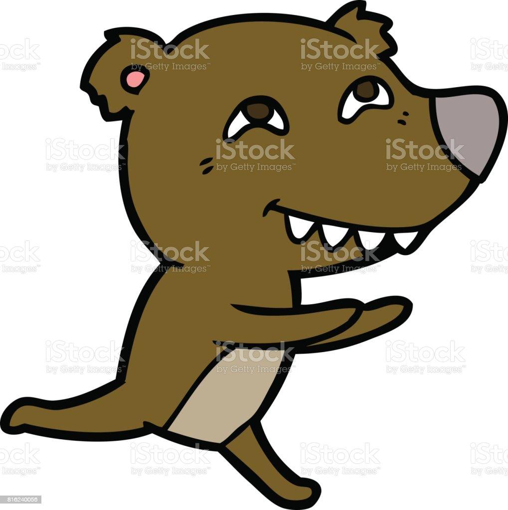 Vetores De Desenhos Animados Urso Correndo E Mais Imagens De Animal Istock