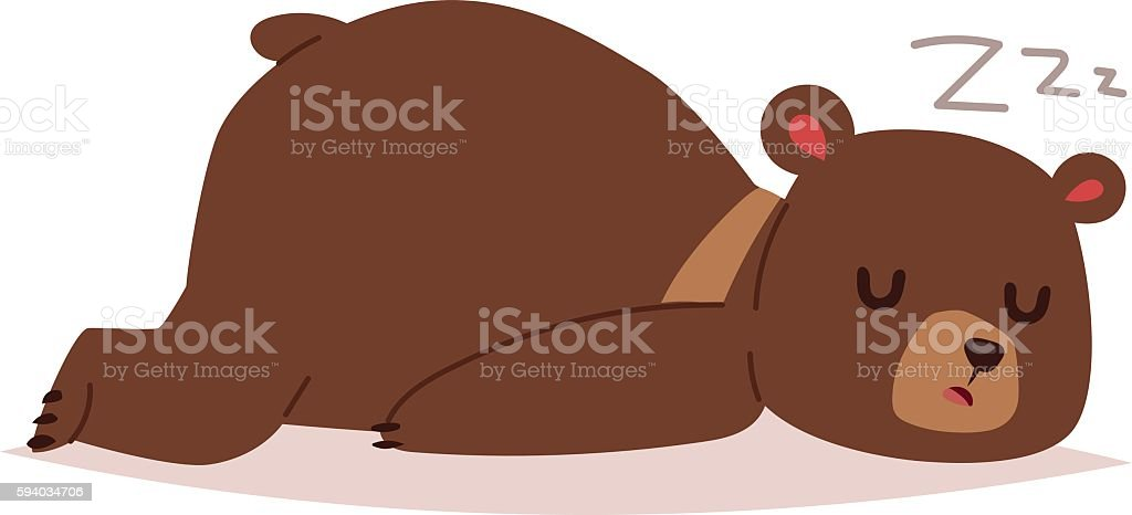 royalty free sleeping bear clip art vector images illustrations rh istockphoto com sleeping polar bear clipart sleeping bear clipart black and white