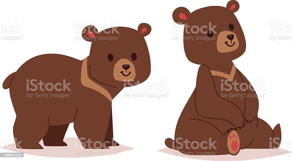 royalty free bear cub clip art vector images illustrations istock rh istockphoto com bear cub mascot clipart free bear cub clipart