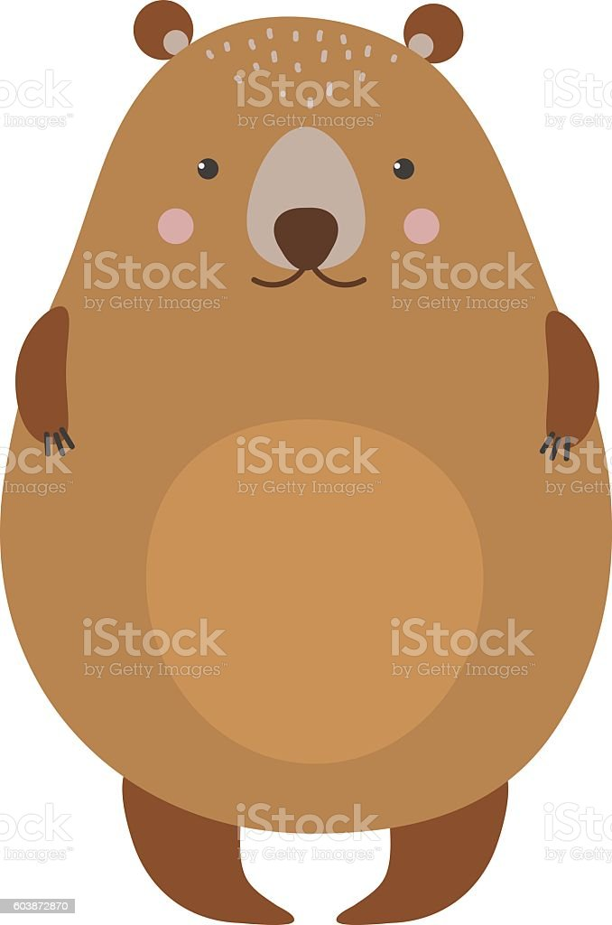 Cartoon bear vector haracter vector art illustration