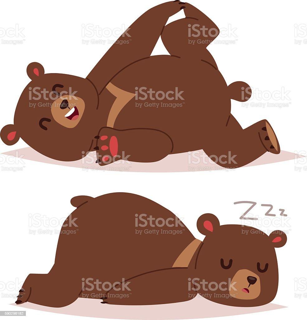 Cartoon bear vector set. royaltyfri cartoon bear vector set-vektorgrafik och fler bilder på antropomorfistiskt smileyansikte