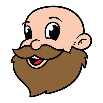 Cartoon Bearded Man Avatar Portrait Stock Illustration Download Image Now Istock