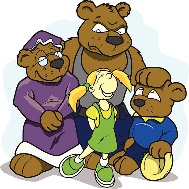 Cartoon Bears vector art illustration