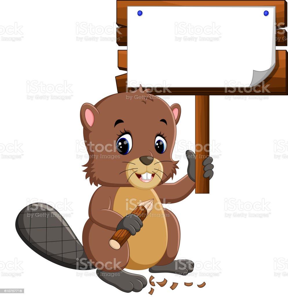cartoon beaver stock vector art 610757718 istock