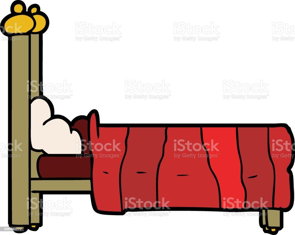 Comicbett Stock Vektor Art und mehr Bilder von Bett 896340272 | iStock