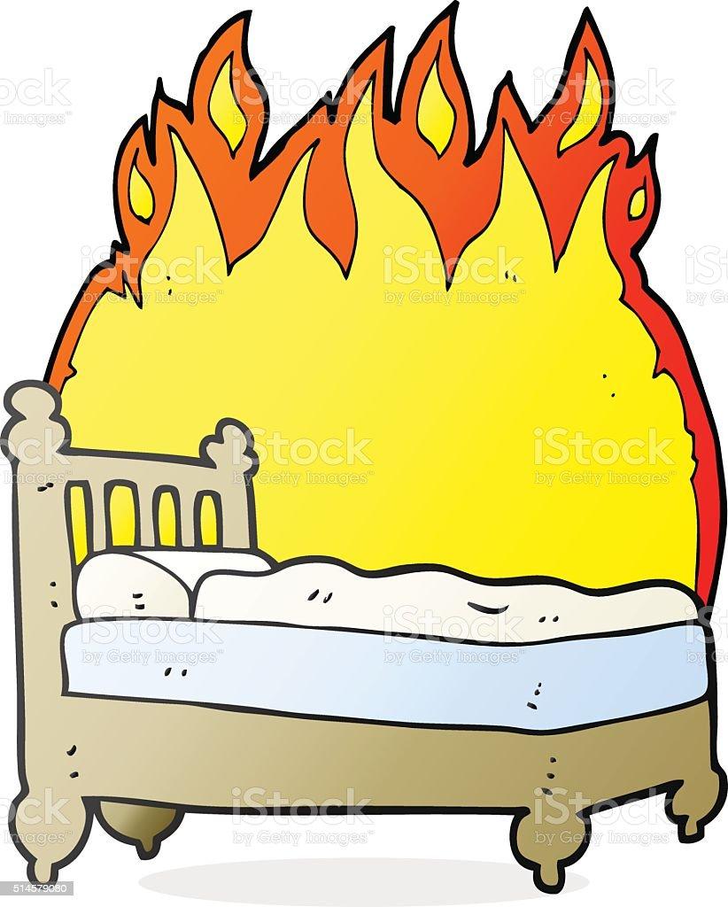 Comic Betten Verbrennen Stock Vektor Art Und Mehr Bilder Von Bett