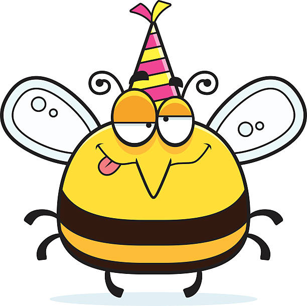 Royalty Free Drunk Bee Clip Art, Vector Images ...