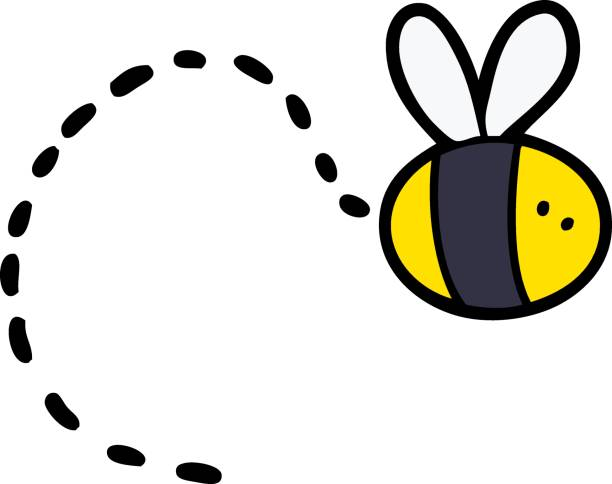 cartoon bee flying cartoon bee flying bee borders stock illustrations