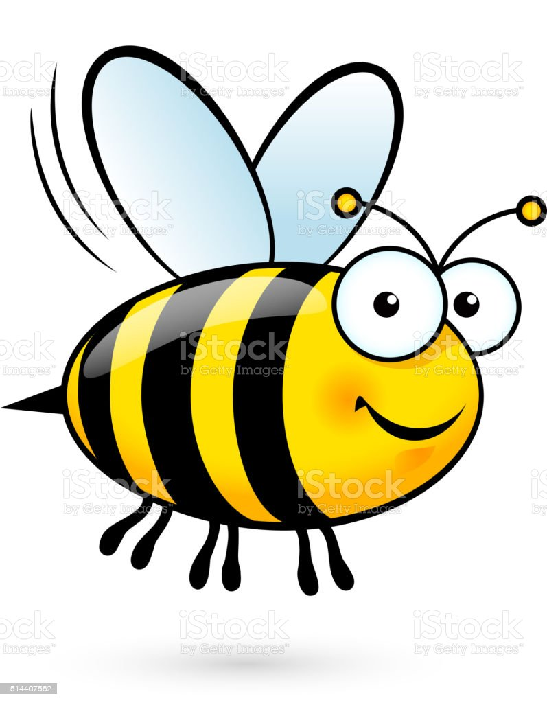 Cartoon Bee vector art illustration