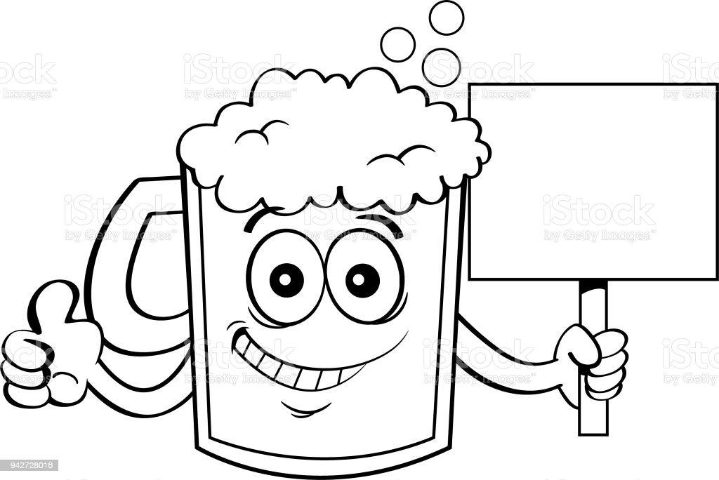 Ilustración De Jarra De Cerveza De Dibujos Animados Dando