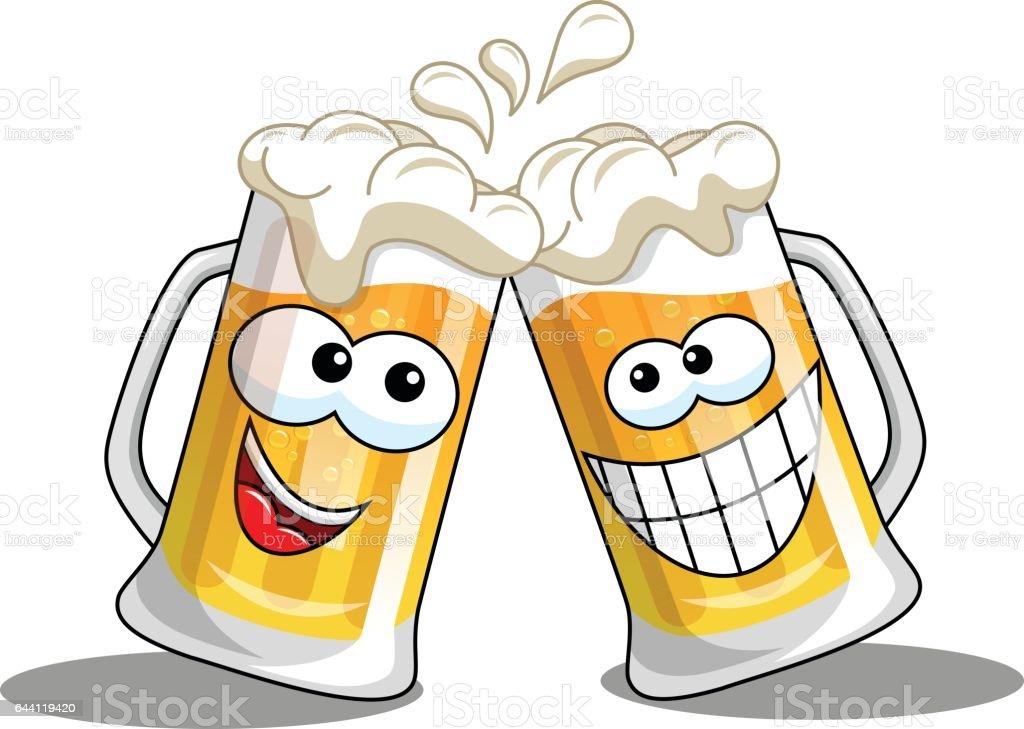 Cartoon Beer Mugs Cheers Isolated Stock Vector Art & More