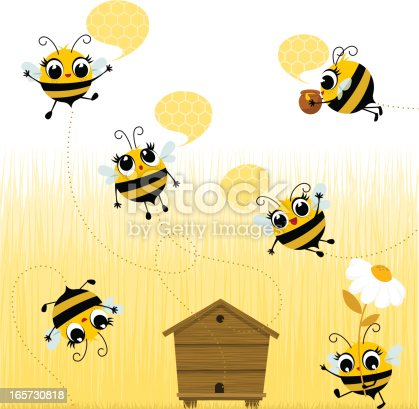 Bees flying. Please, you can see more of my original work in my lightboxs:http://i681.photobucket.com/albums/vv179/myistock/ani2.jpg