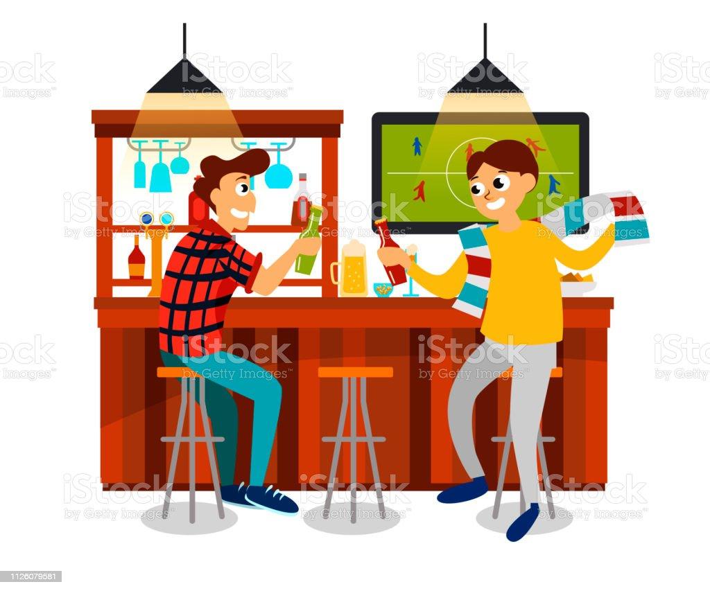 Dessin Anime Des Meilleures Amies De Regarder Le Football Jeu En Bar Vecteurs Libres De Droits Et Plus D Images Vectorielles De Acclamation De Joie Istock