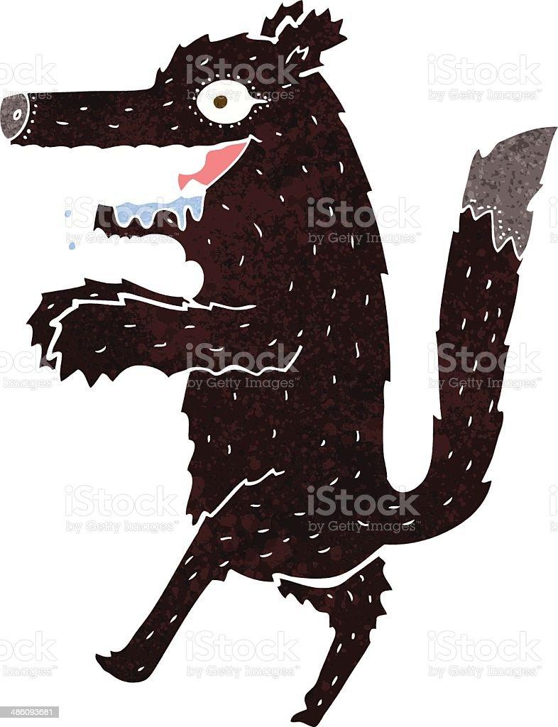 cartoon big bad wolf vector art illustration