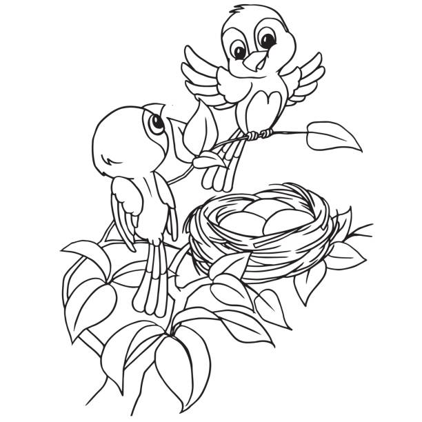 Royalty free silhouette of bird on branch tattoo clip art for Idaho state bird coloring page
