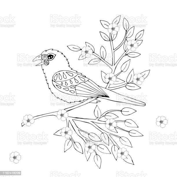 Cartoon Bird For Coloring Book Or Pages Stock Illustration Download Image Now Istock