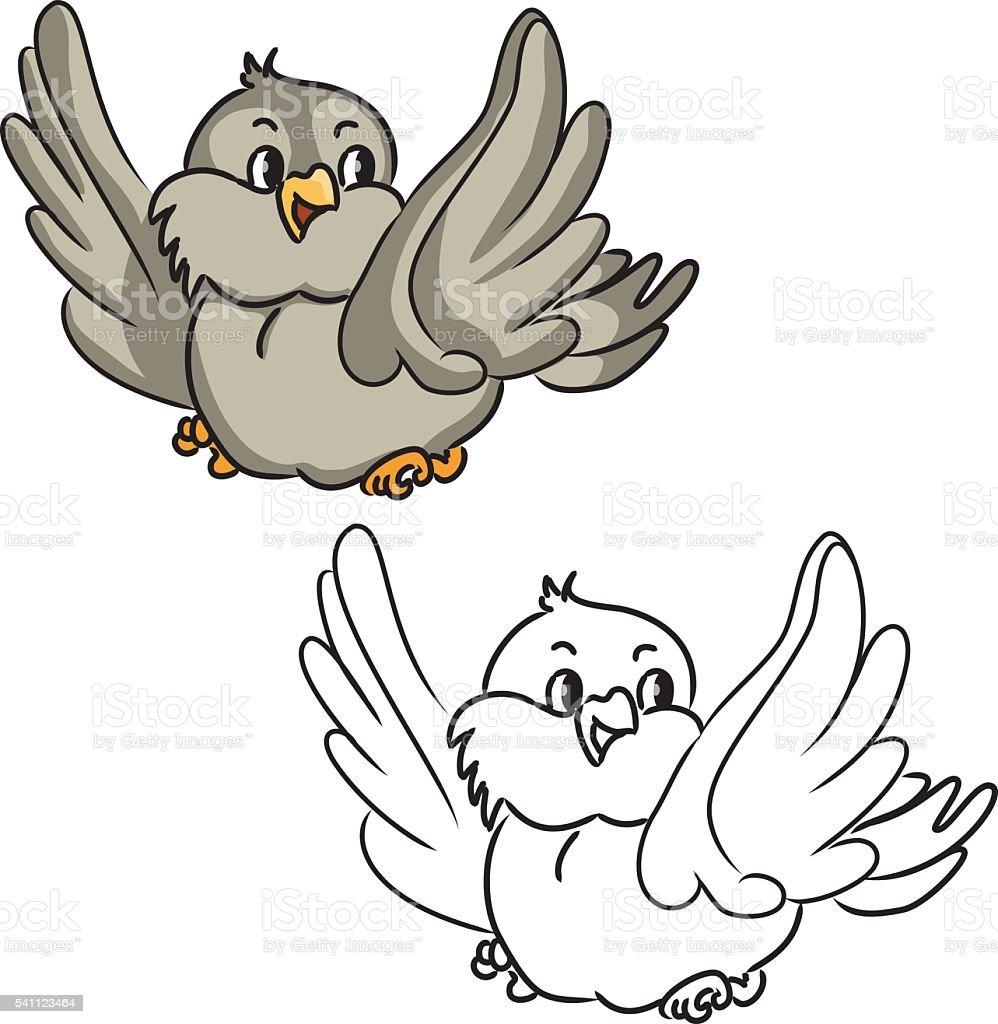 Comic Vogel Stock Vektor Art Und Mehr Bilder Von Ausmalen Istock