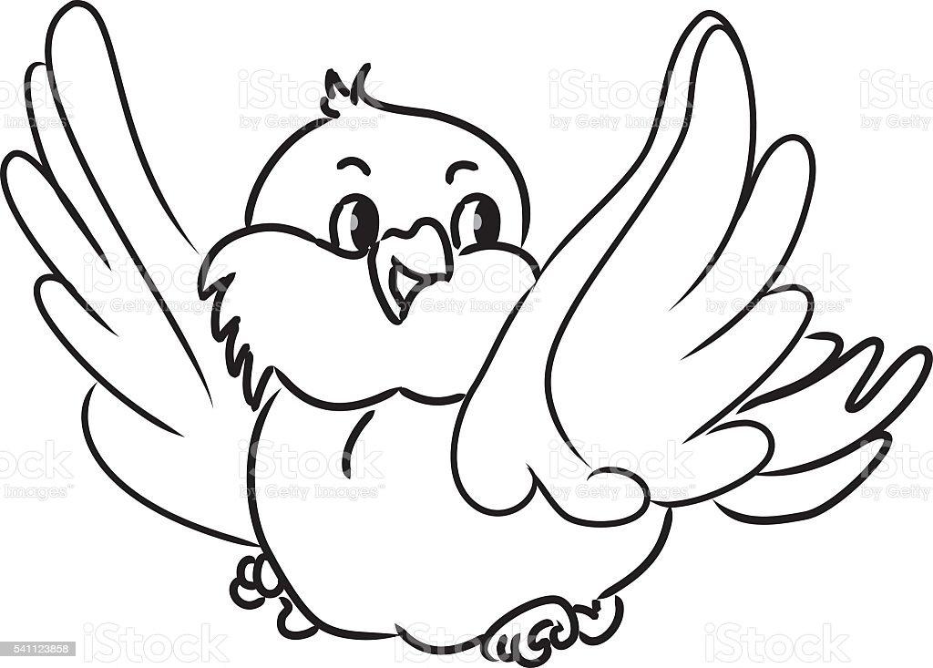 Comic Vogel Stock Vektor Art Und Mehr Bilder Von Ausmalen 541123858