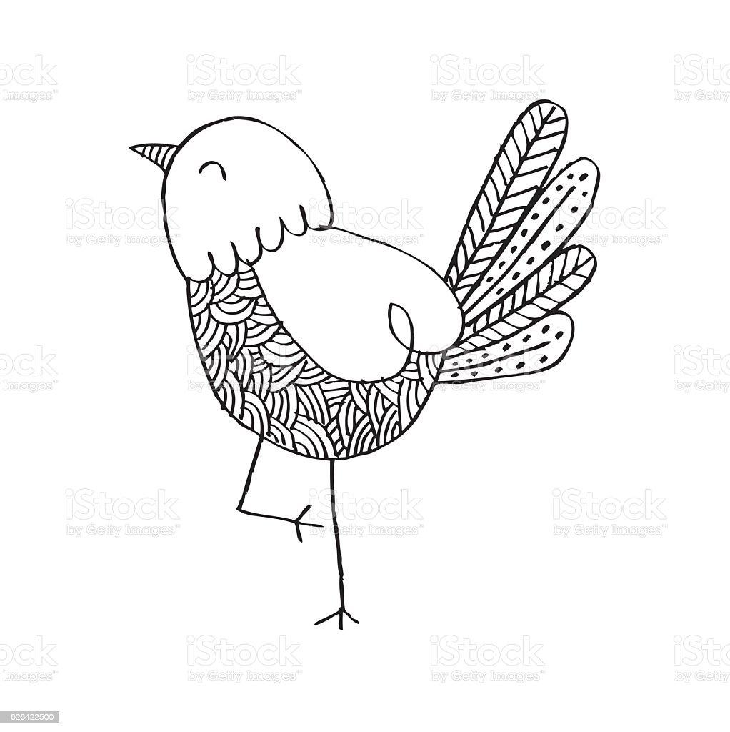 Cartoon bird vector art illustration