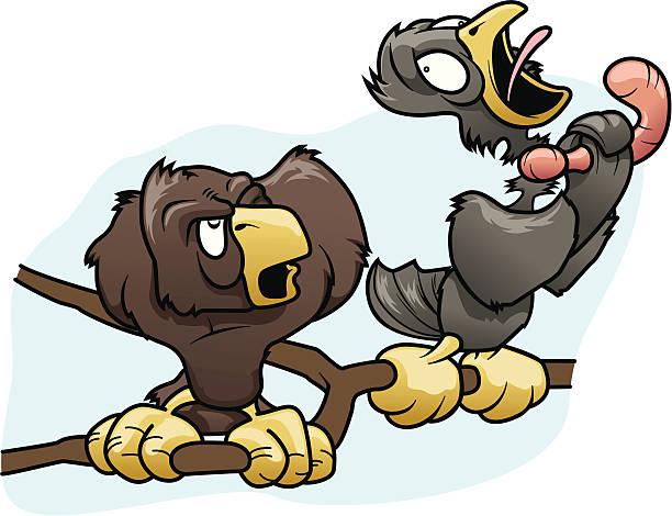 Cartoon Birds vector art illustration