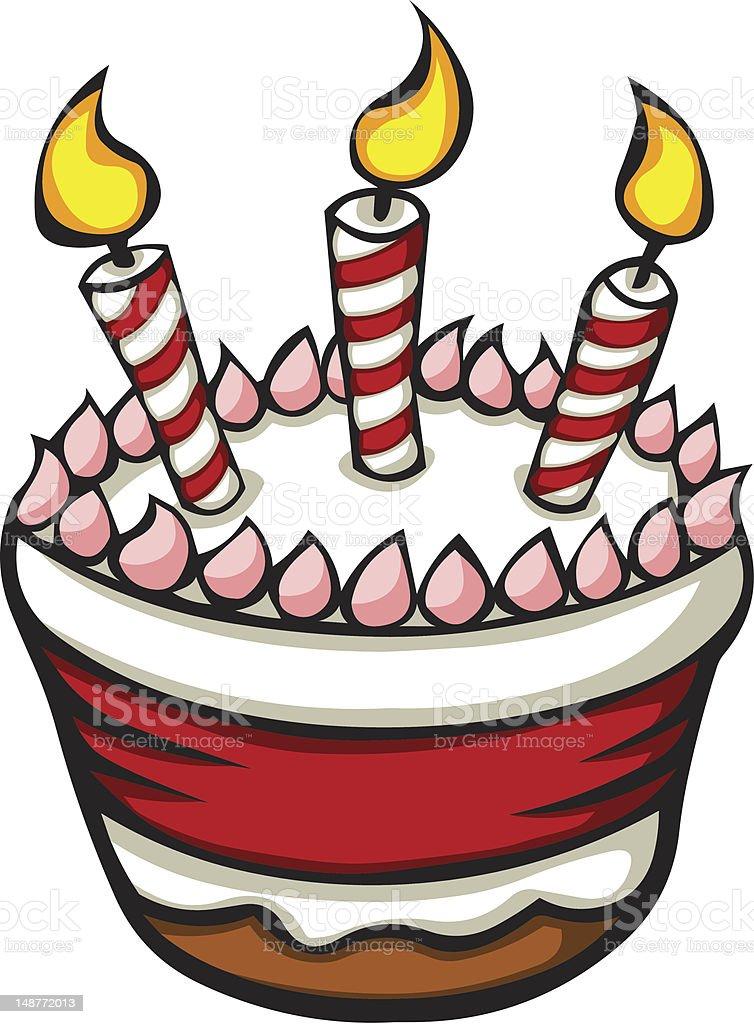 Cartoon Birthday Cake Stock Vector Art Amp More Images Of