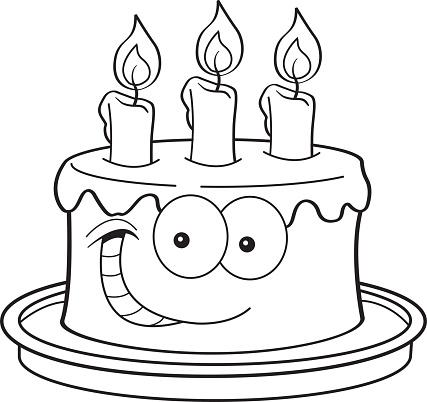 Amazing Cartoon Birthday Cake With Candles Stock Illustration Download Funny Birthday Cards Online Hendilapandamsfinfo