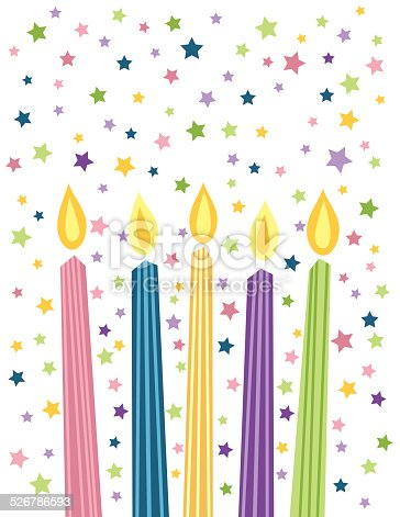 Cartoon Birthday Candles