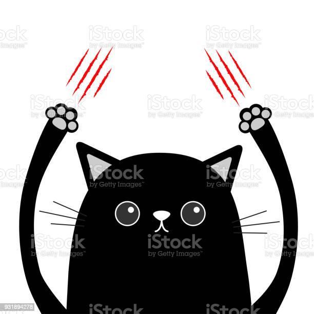 Cartoon black cat claw scratching red bloody scratch funny face head vector id931894278?b=1&k=6&m=931894278&s=612x612&h=xyqzxickttb aubp8mjlzqaswqqbzpshfojm490jn5g=