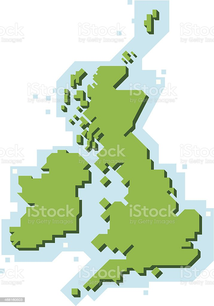 Cartoon Blocky Map Of United Kingdom Stock Vector Art More Images