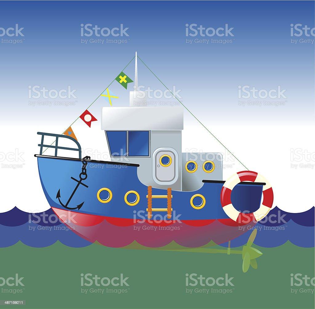 cartoon boat royalty-free stock vector art