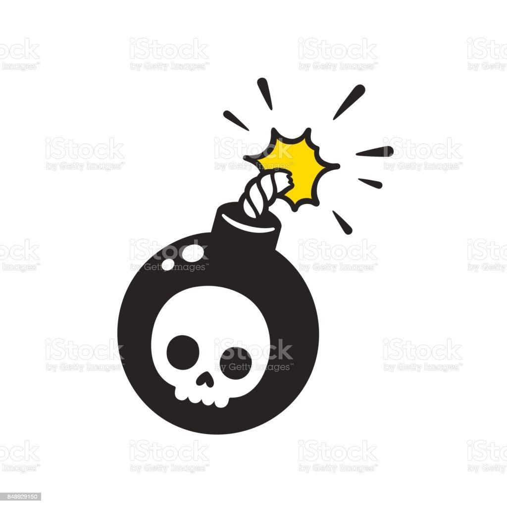 Cartoon bomb drawing vector art illustration