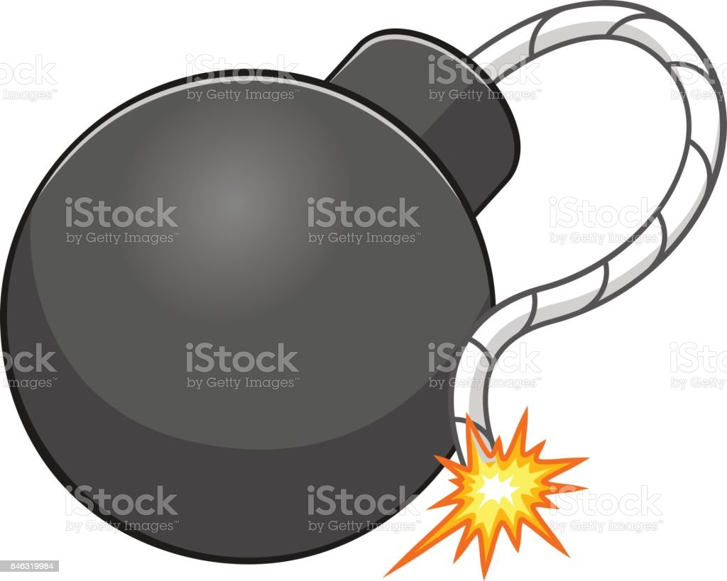 Cartoon bomb vector art illustration