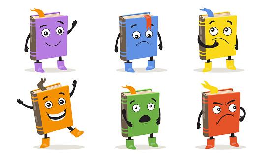 Cartoon books set