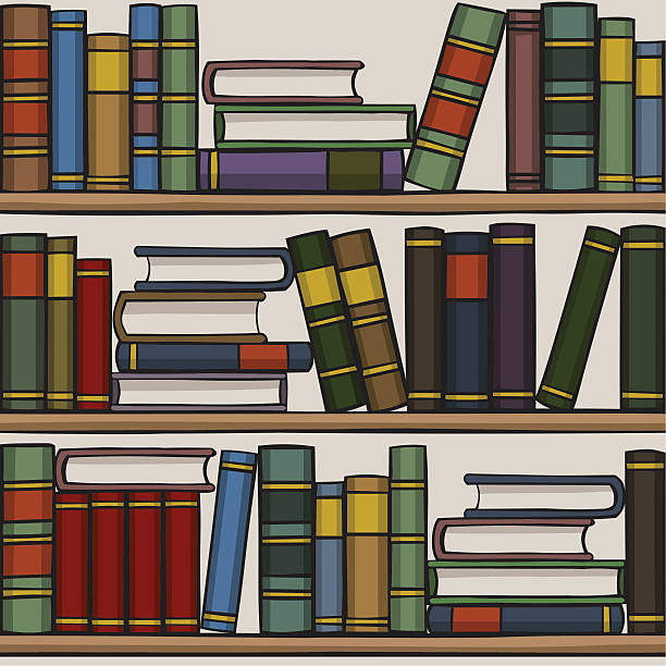Royalty Free Bookshelf Clipart Clip Art Vector Images