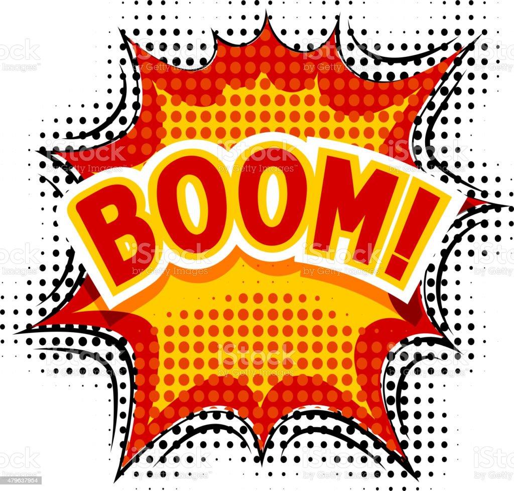 Cartoon Boom. Vector illustration. vector art illustration