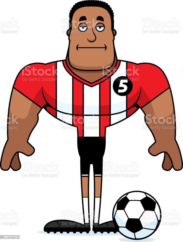 Cartoon Gelangweilt Fussballspieler Undtrainer Stock Vektor
