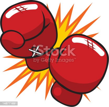 Cartoon Boxing Gloves Stock Vector Art & More Images of Boxing - Sport 148771691   iStock