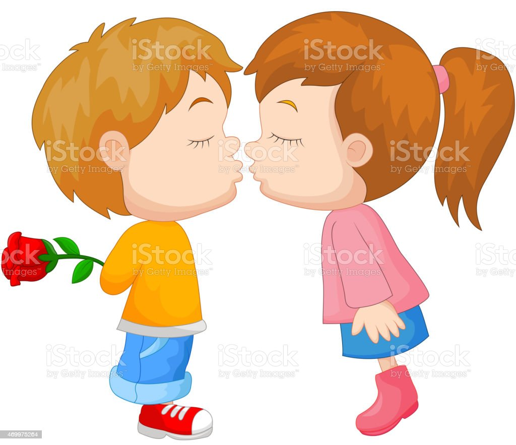 Kiss the girl cartoon