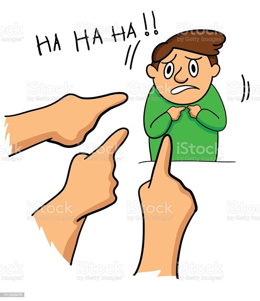 Cartoon Boy Bullied vector art illustration