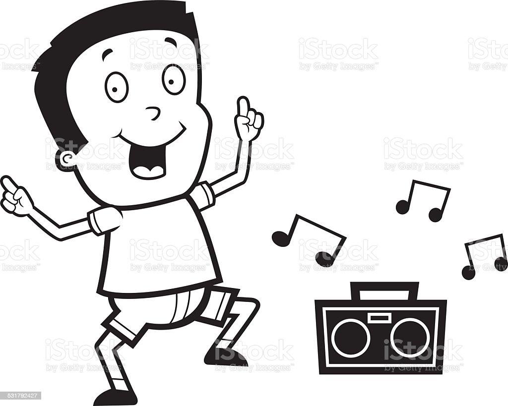 Cartoon Boy Dancing Royalty Free Stock Vector Art Amp More Images