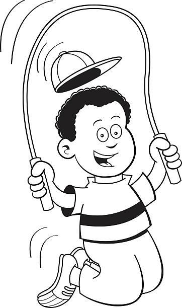 royalty free jump rope drawing clip art vector images