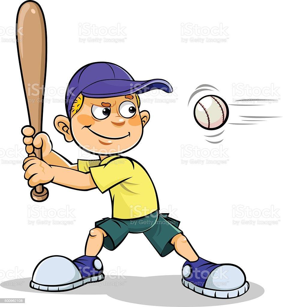 royalty free kids baseball clip art vector images illustrations rh istockphoto com  cartoon baseball hat clipart