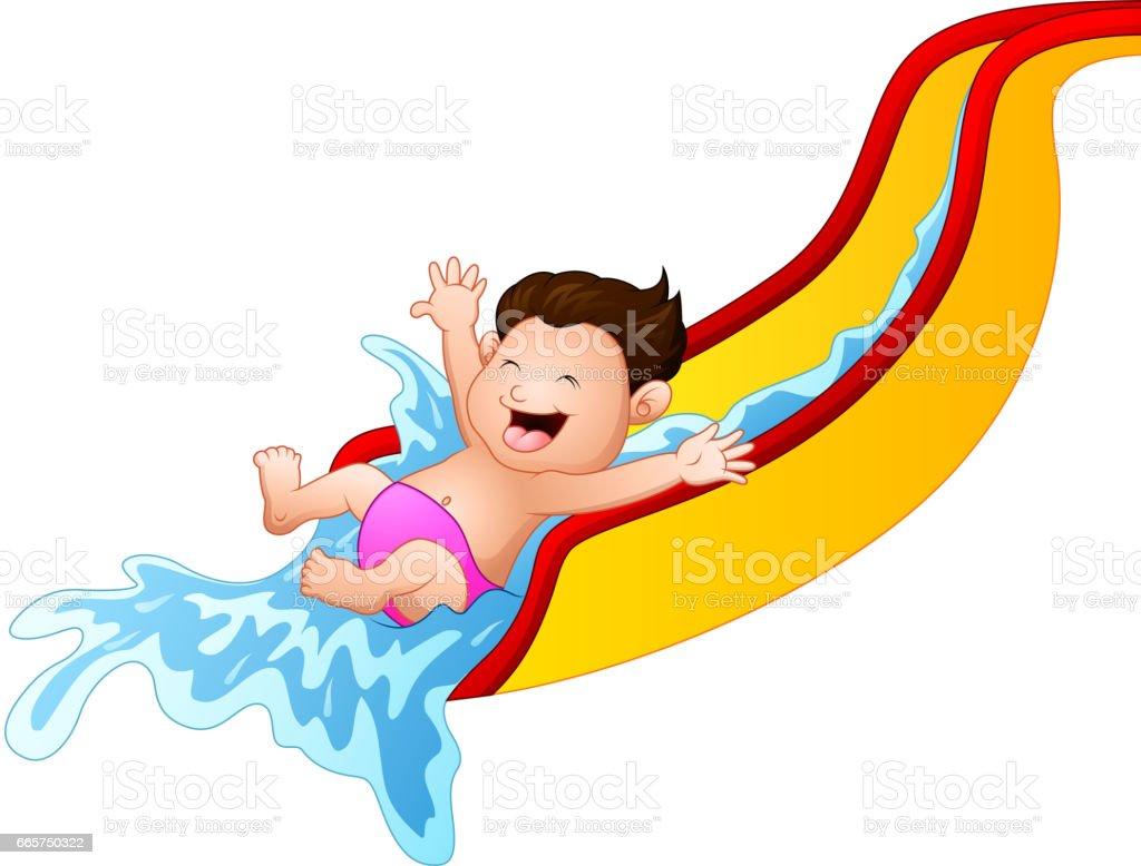 royalty free water slide clip art vector images illustrations rh istockphoto com Water Slide Clipar Blow Up Water Slide Clip Art