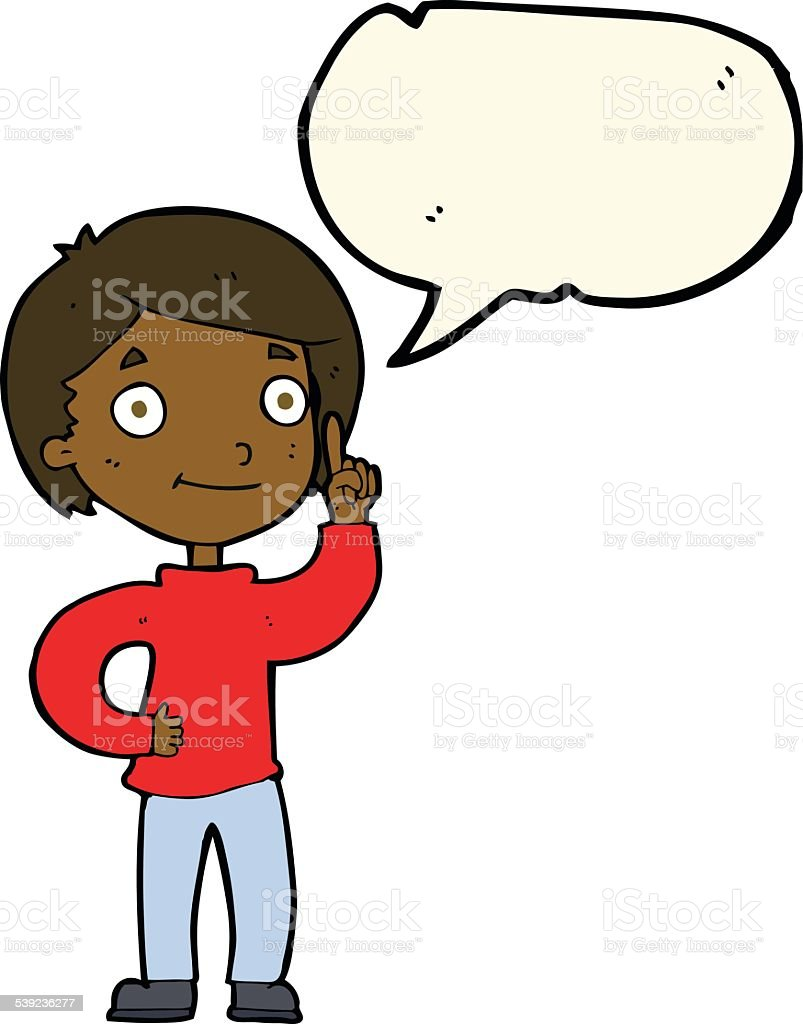 cartoon boy with idea with speech bubble royalty-free cartoon boy with idea with speech bubble stock vector art & more images of adult