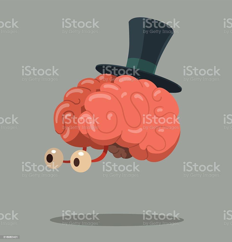 Ilustración de Cerebro De Historieta Con Sombrero De Copa y más ...