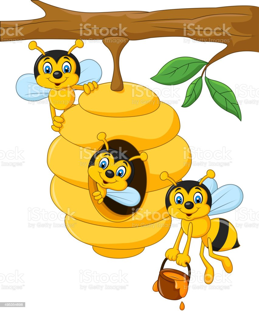 royalty free honey bee hive house clip art vector images rh istockphoto com