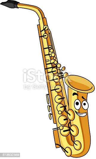 Comic messing saxophon stock vektor art und mehr bilder - Dessin saxophone ...