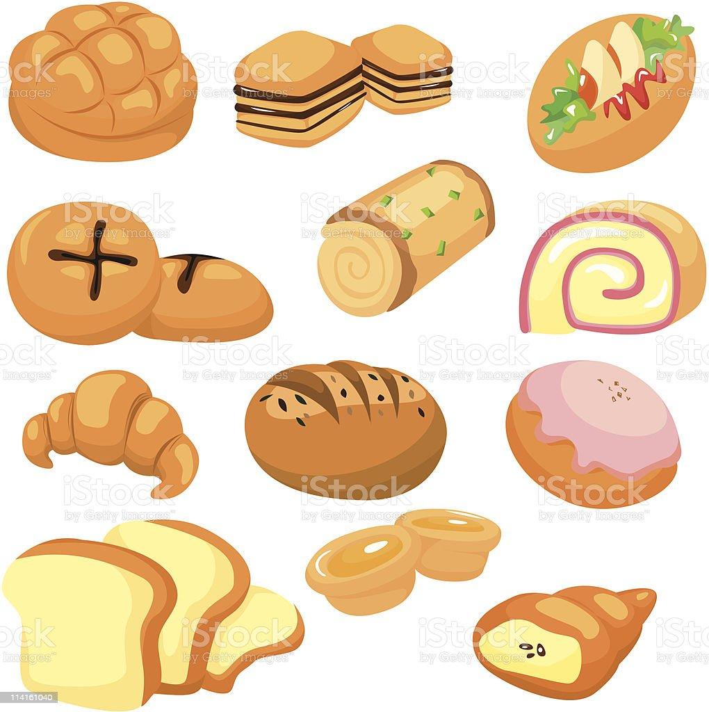cartoon bread icon royalty-free stock vector art