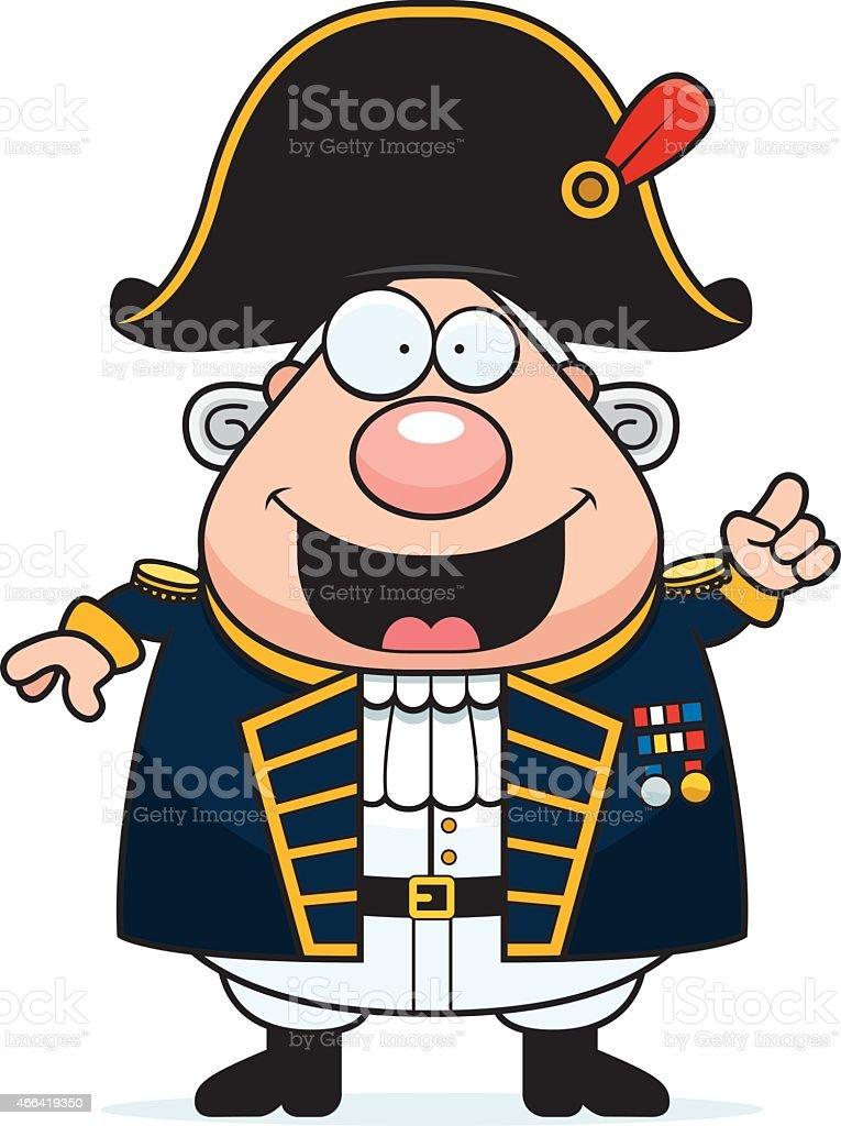 Cartoon British Admiral Idea vector art illustration
